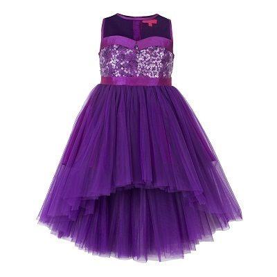 Purple High-Low Dresses