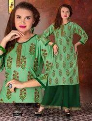 Pragati Rayon Milange Casual Wear for Kurti with Palazzo