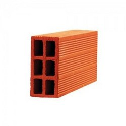 Porotherm Rectangular Hollow Clay Bricks for Side Walls, Size: 16 x 4 x 8 inch