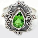 Peridot Silver Rings