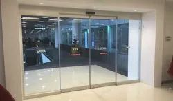Automatic Sliding Door with Toughened Glass