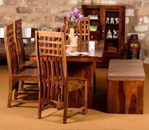 Sheesham Wood Induscraft Designer Dining Table 6 Seat Rs 38500