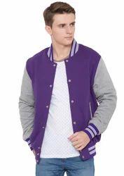 Purple Grey  Fleece Varsity Varsity - Men