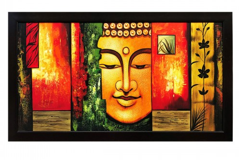 gallery99 buddha oil painting on canvas at rs 3250 piece oil