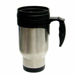 14oz Black Stainless Steel Mug