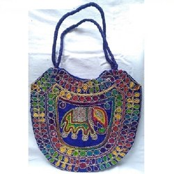 Multicolor Sindhi Embroidery Pitcher Design Tote Bag, Size: 12 X 14 X 1