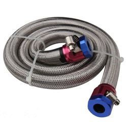 Red and Blue SS Braided Connection Hose