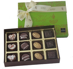 ZOROY Luxury Chocolate Diwali Festive Box of 12 Assorted Chocolate