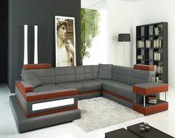 Grey Brown Color Sofa Set