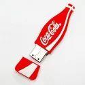 Coca Cola Bottle Shape PVC Pendrive