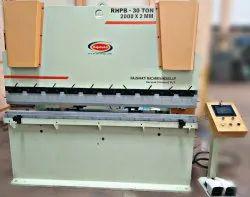 RHPB-30 Ton Hydraulic Press Brake Machine, For Industrial, Automatic Grade: Semi-Automatic