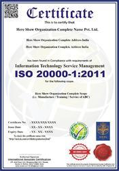 ISO 200000-1:2011 Certification & Consultancy Service