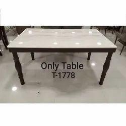 Rectangular Marble Wooden Center Table, for Home