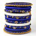 Indian Handcraft Girls Party Wear Fancy Silk Thread Bangles