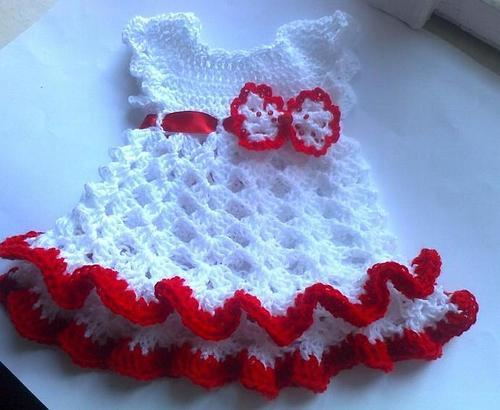 3adeb6f9800c Woolen Regular Wear Hand Knitted Baby Frock
