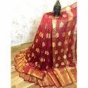 Shree Balaji Casual Rich Cotton Silk Saree, With Blouse, 5.5 M (separate Blouse Piece)