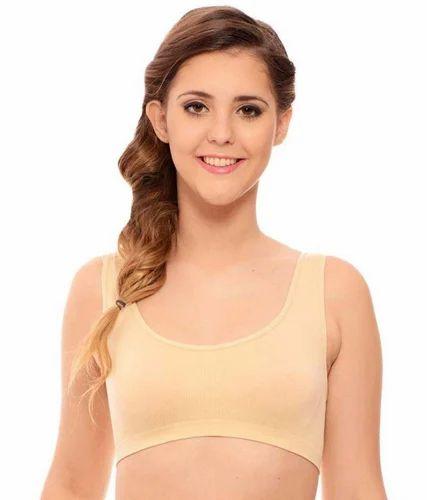 b01672286f 90% Nylon   10% Spandex Skin Color Women  s Air Bra