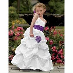 Sleeveless Girl White Princess Gowns