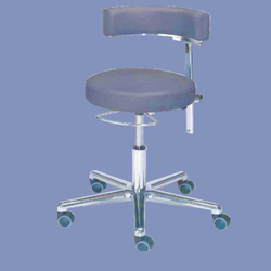 AOMA Black Surgeon's Chair, Size: 50 Cm