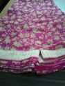 Pink Blended Chiffon Saree