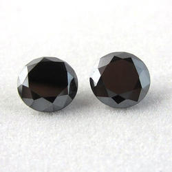 Black Oval Moissanite Stone