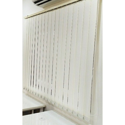 White Fabric Vertical Blind