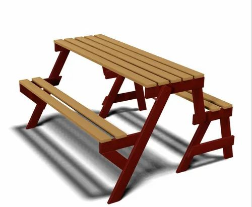 Folding Ms Bench Picnic Table, Wooden Bench Outdoor Table