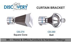 Square Cone And Ball Curtain Bracket