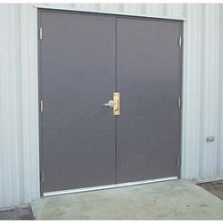 Grey Powder Coated Commercial MS Door, Thickness: 25 Mm