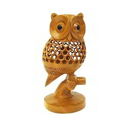 Brown Wooden Jali Owl