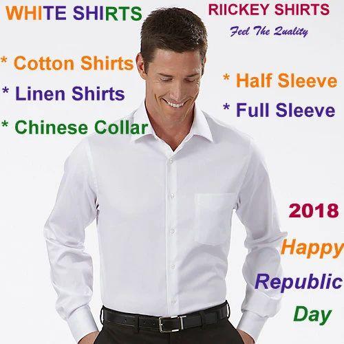 288fa3ec Men White Shirts - 100% Cotton & Linen Shirt, Rs 210 /piece | ID ...