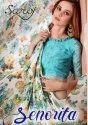 Saroj Senorita Georgette With Flower Print Saree Catalog Collection