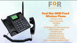 Black  GSM Wireless Phone(Dual Sim With Recording)