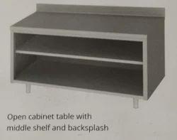 KENASKA STEEL SS Cupboard open cabinet, Size/Dimension: 3FT*3FT*2FT