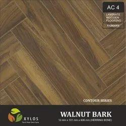 Walnut Bark Laminate Herringbone Wooden Flooring