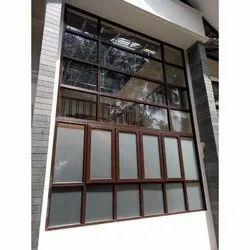 Lesso Etti Dark Oak Laminated UPVC Window, For Residential