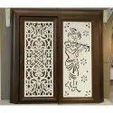 Polished Wooden Sliding Door