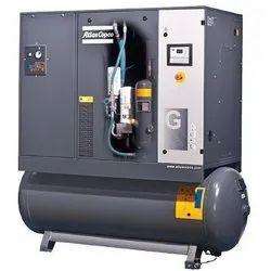 10 HP Atlas Copco Screw Compressor, Maximum Flow Rate: 51 - 120 cfm