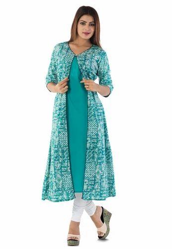 Cotton Front Slit Jacket Style Kurti At Rs 750 Set Designer