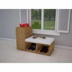 Designer Wooden Shoes Shelves, For Anywhere