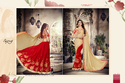 Red-Beige Designer Ladies Saree