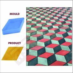 Diamond Paver Block Moulds 60 MM 617B - Sand