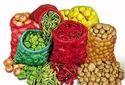 Green And Red & Yellow Leno Mesh Bag