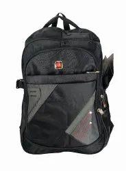 Embellished Black School Bag