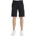 Mens Black Cotton Shorts