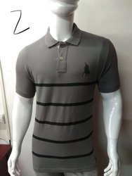 Mens Striped Polo T Shirt