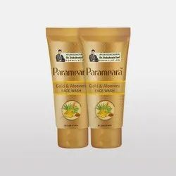 Golden Parampara Gold and Aloe Vera Face Wash, Type Of Packaging: Tube