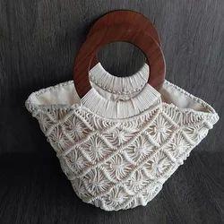 White Handmade Fancy Bag