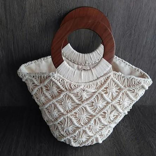 White Handmade Fancy Bag