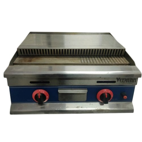 Stainless Steel Gas Grilled Hot Plate, 530 X 410mm